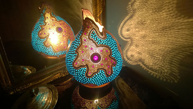 gourd lamps, purple home decor, valetines day gift ideas, lighting design