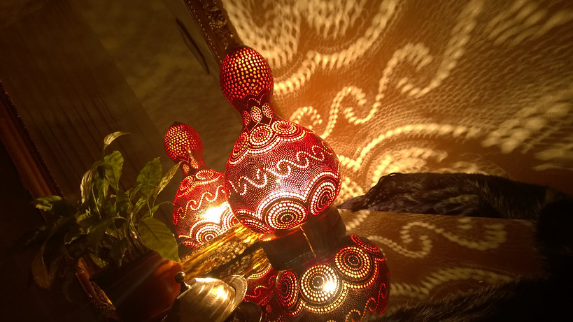 Handmade Gourd Lamps Gourd Light Gourd Art Unique Gift Ideas Oriental Home Decor Boho Living Room Decor