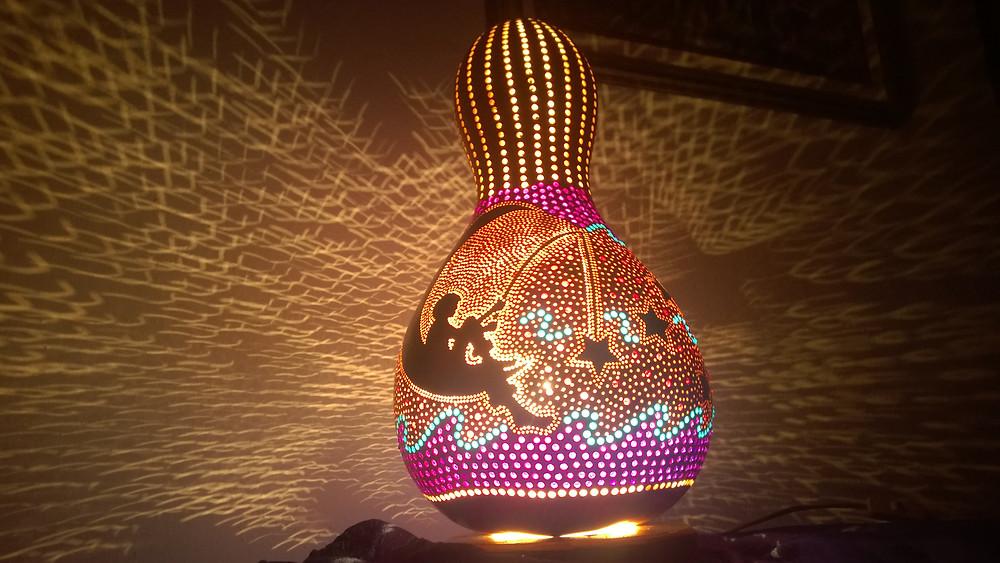 Chasing Stars Handmade Gourd Lamp
