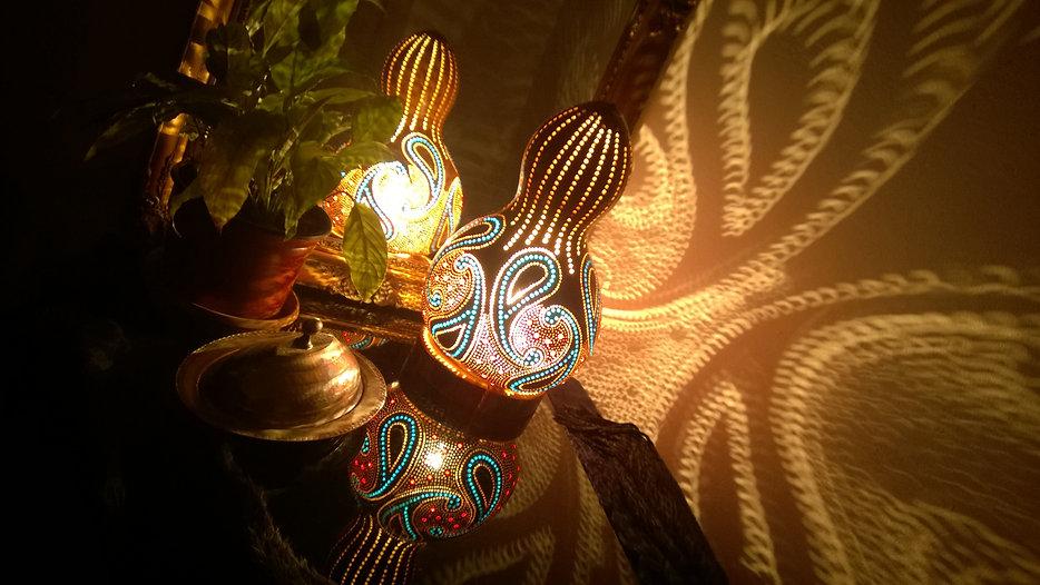 Gourd lamps, unique gift ideas, lightig design, boho homee decor