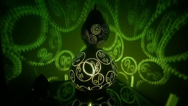 Handmade Gourd Lights Green Home decor Livng Room Decoration