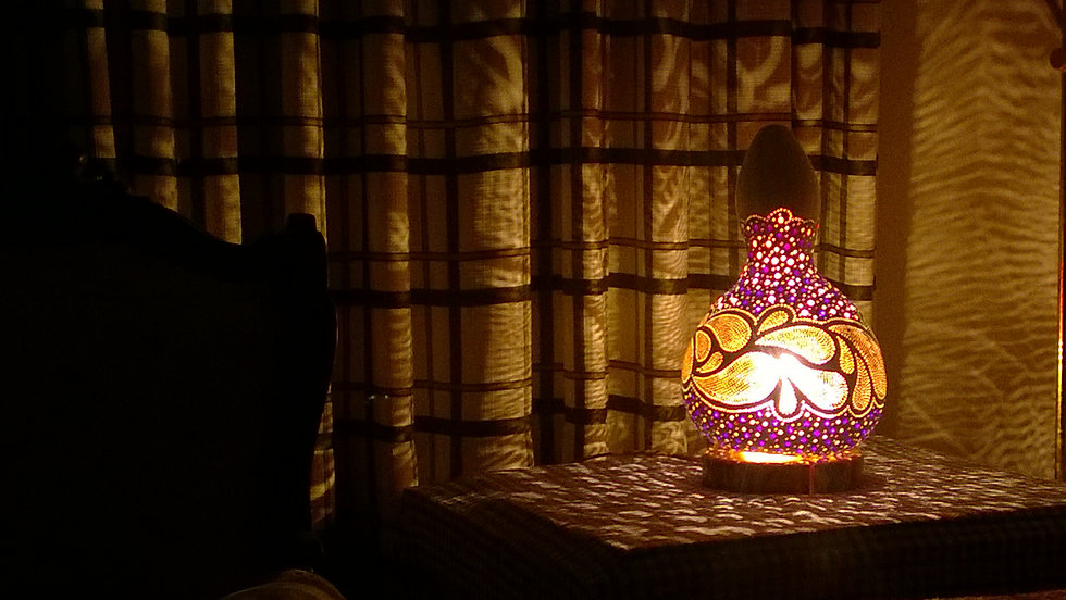 Handmade Gourd Lamp minimalist Gourd Light Gourd Art Unique Home Decor