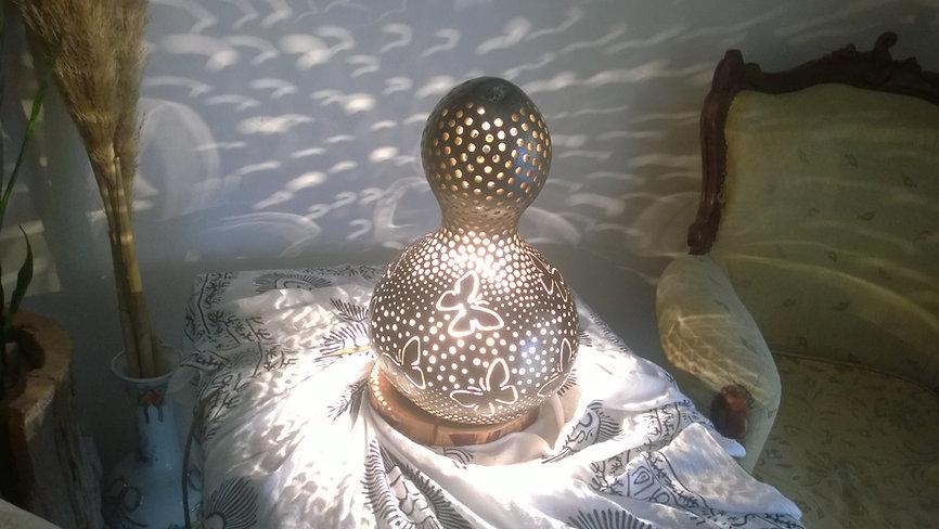 Handmade Gourd Lamp, Lighting Design, UniqueGift Ideas, Home Decor
