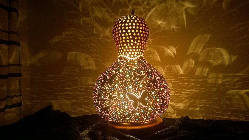 Handmade Gourd Lamp Gourd light Gourd Lantern Gourd Chandelier