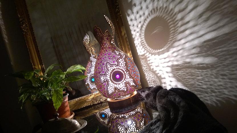 gourd lamps light art unusua art excepional gifts weird gifts remarkable gifts