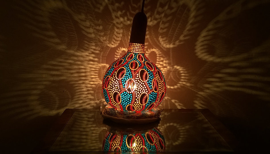 gourd lamp gourd light gourd art