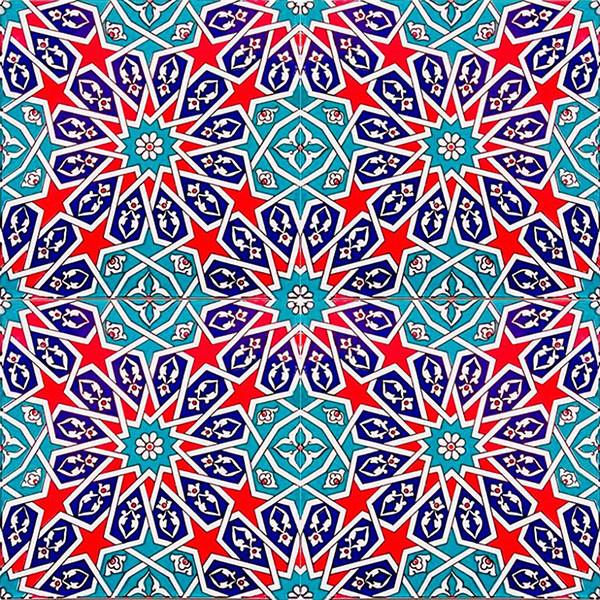 World famous Kutahya ceramics usually have geometrical shapes