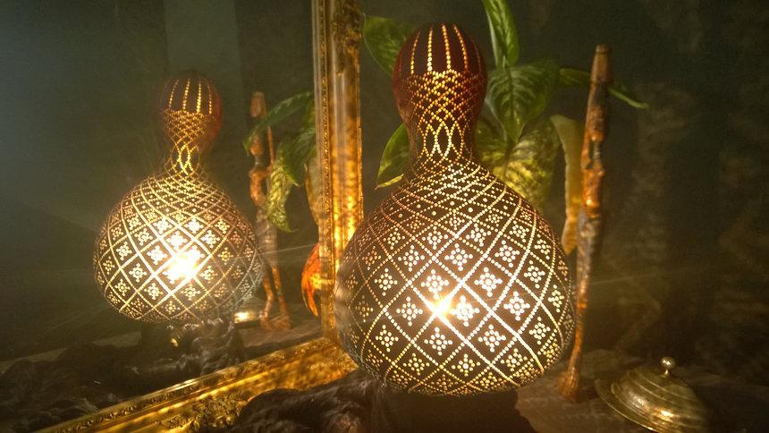 rhombus gourd lamp
