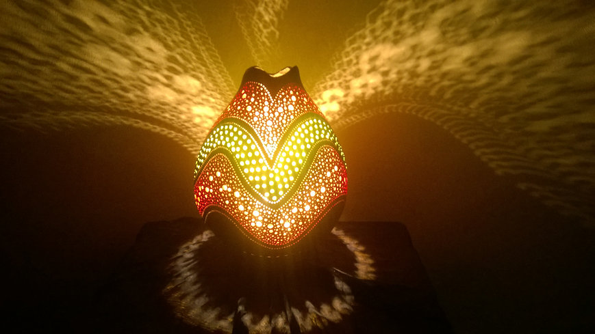 handmade gourd lamp