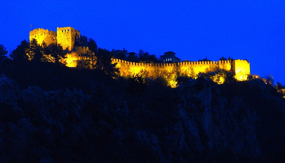 Historic Castle of Alanya. An inspiration for our gourd lamps on its own.