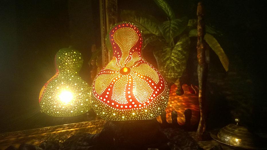 Lullabies Handmade Gourd Lamp