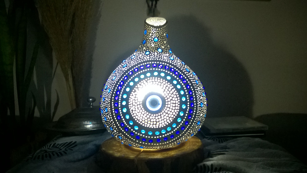 Gourd Lamp Handmade Evil Eye Theme