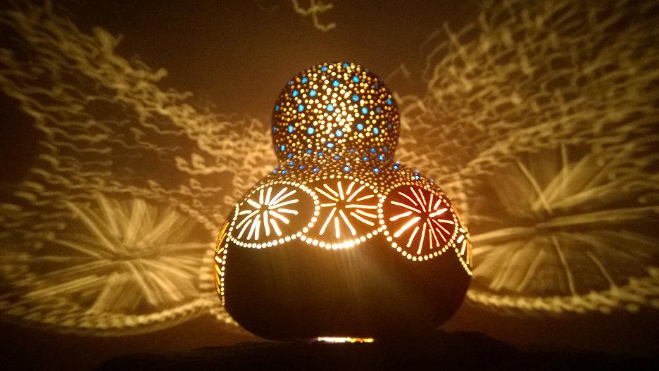 retro gourd lamp