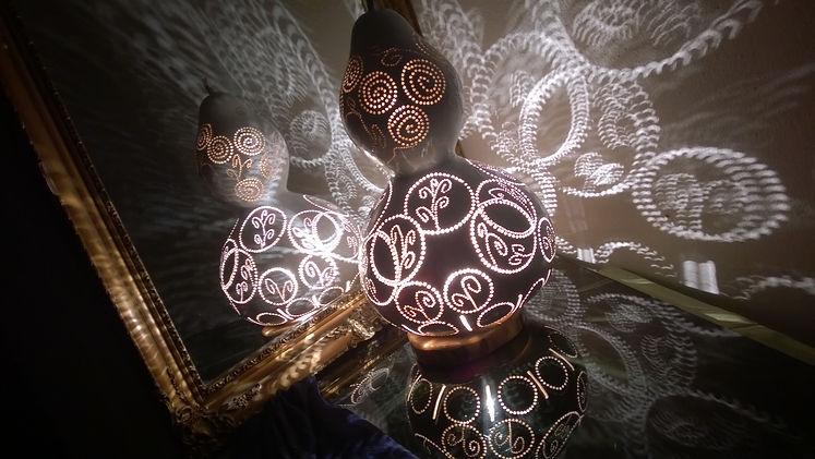 Purple Felicity Handmade Gourd Lamp Unique Gift Ideas Boho Home Decor Minimalist Geometric Decor Ideas