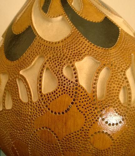 Handmade Gourd Lamp Gourd Art Gourd Light Boho Home Decor