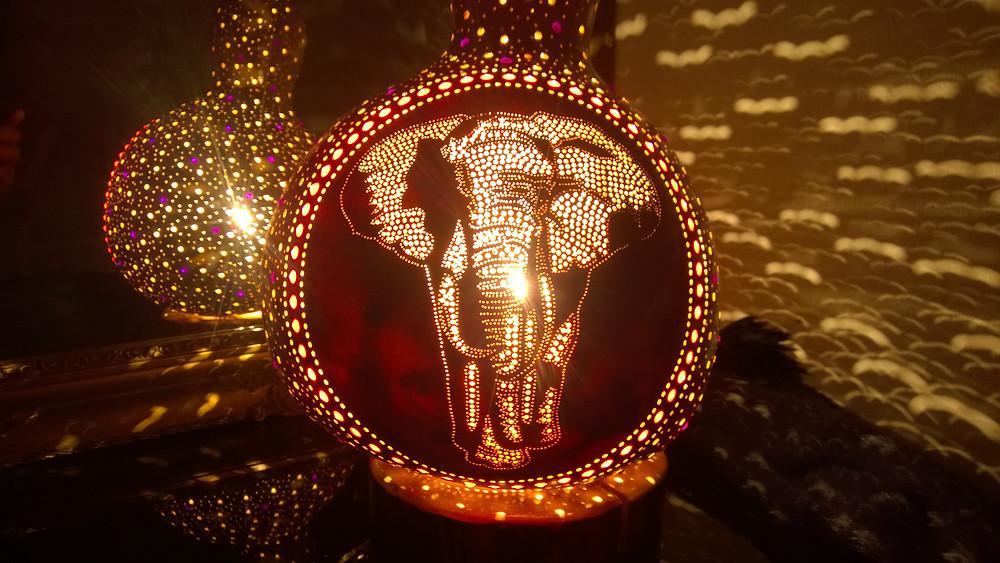The Walk Handmade Gourd Lamp