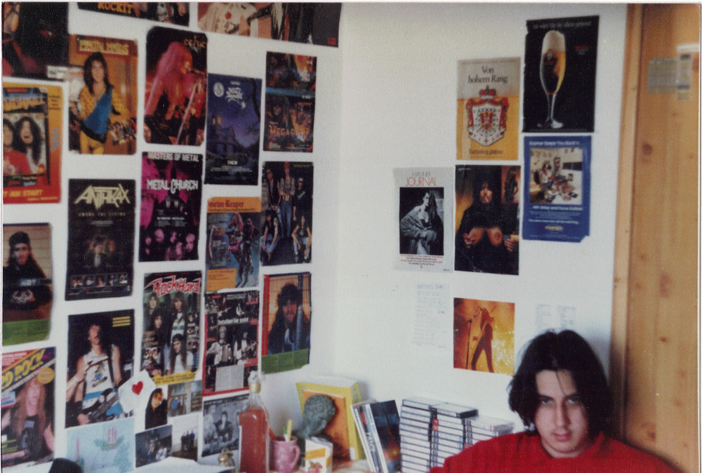 Early 1990s. I had posters of bands like everyone
