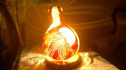 handmade gourd lamp, unique gift ideas, gothic home decor, lighting design