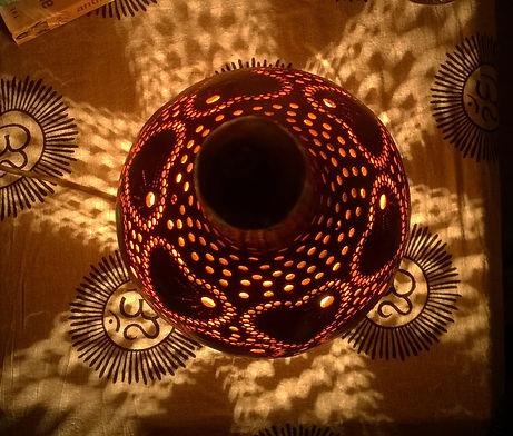 gourd lamp gourd art gourd light Turkish Lights