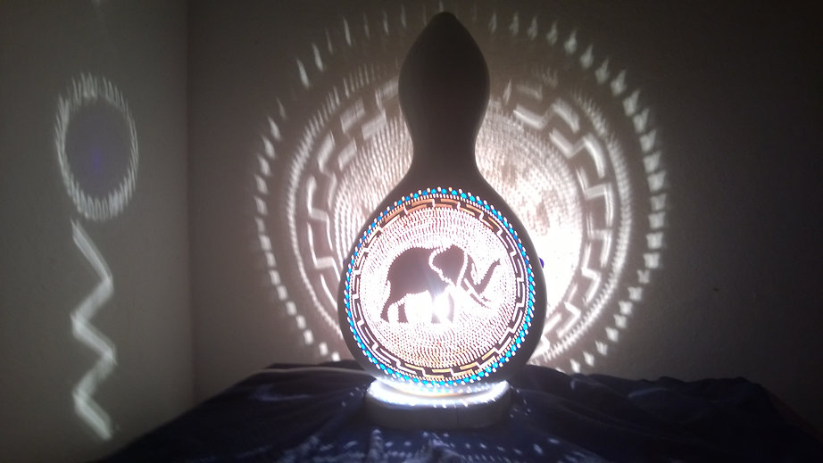 handmade gourd lamps gourd light gourd art nursery decor elephant decor