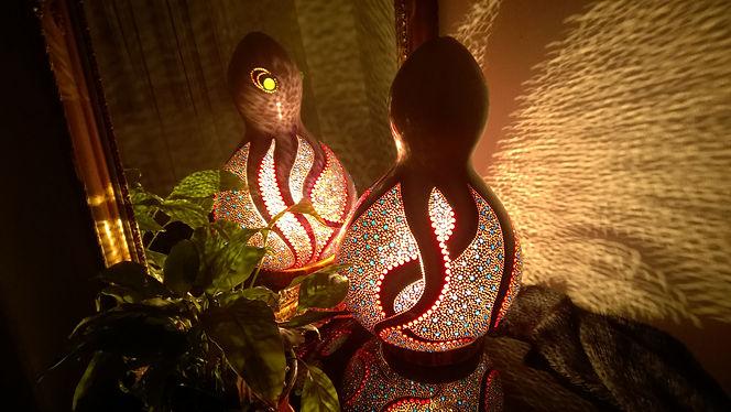 gourd lamp, unique gift ideas, lighting design