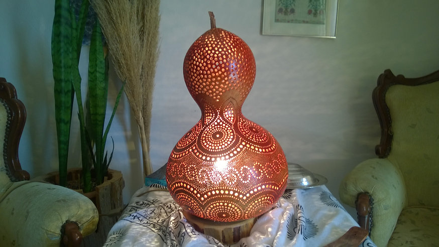 Handmade Gourd Lamps Gourd Light Gourd Art U