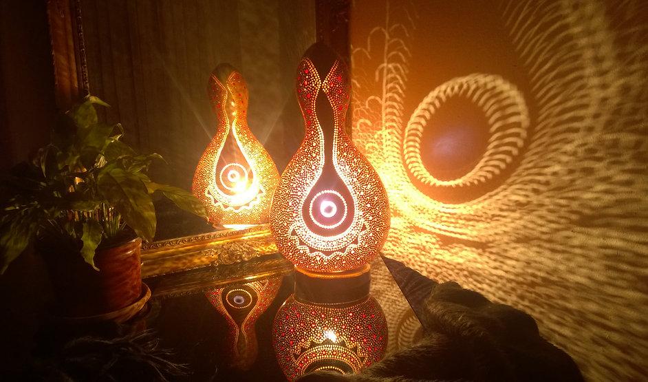 Purple Felicity Handmade Gourd Lamp Unique Gift Ideas