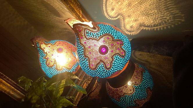 gourd lights, unique gift ideas, boho homedecor