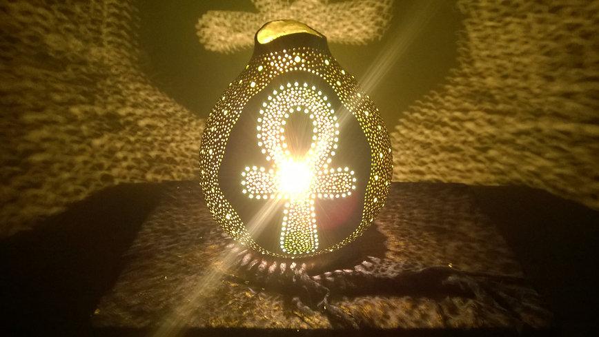 The Anch Cross Handmade Gourd Lamp