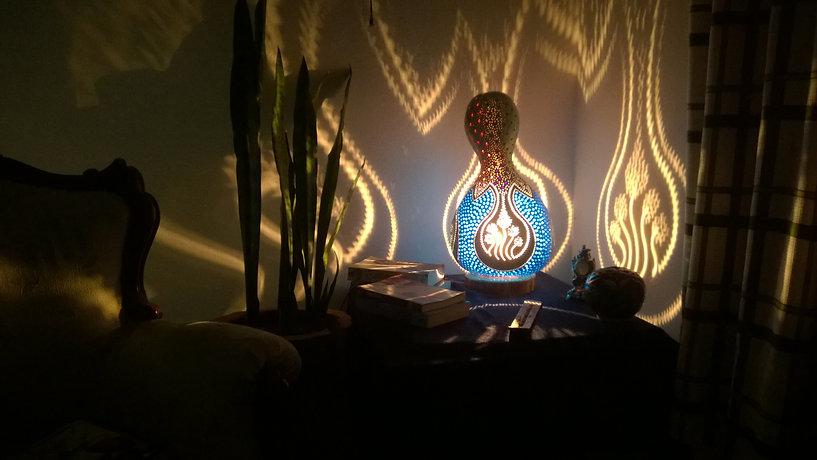 gourd lamps gourd light gourd art handmade lights