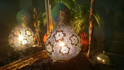 Flower Child Handmade Gourd Lamp
