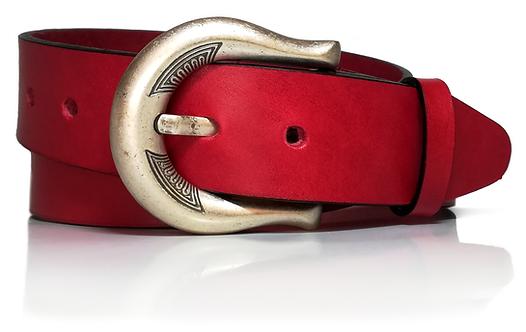 770/40-Cinturón mujer, piel legítima, vaquetilla, 4 cm de ancho, varios colores