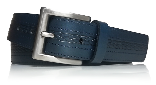 495/35 - Cinturón de piel vacuna grabado