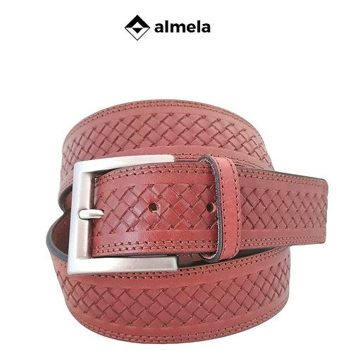 380/40 - Cinturón piel vaquetilla grabado trenza