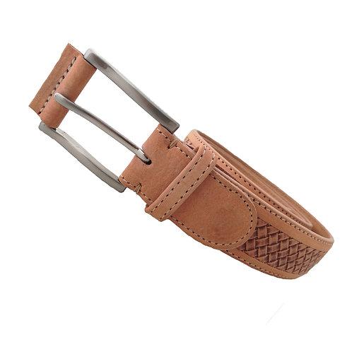 625/35 - Cinturón de piel vacuna vaquetilla Nobuck grabado