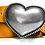 Thumbnail: 761/40 - Cinturón de mujer - Piel legítima - Cuero - Hebilla Corazón