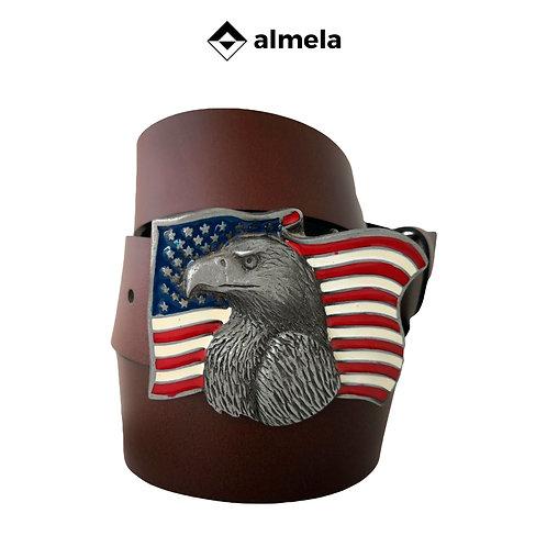 1555/40 - Cinturón piel vacuna chapón Usa-Aguila