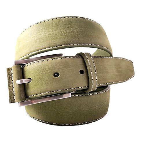 624/35 - Cinturón de piel vacuna vaquetilla Nobuck