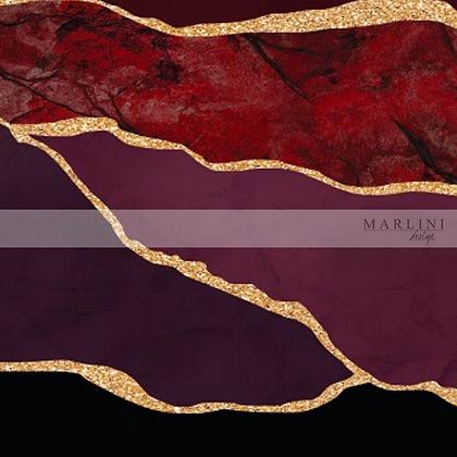 Australian Red Marble, Cotton Elastane Jersey Fabric