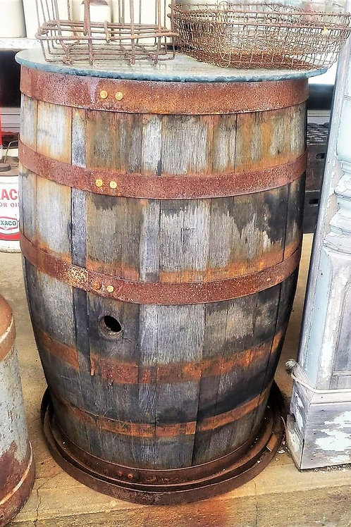 Antique Wine/Whiskey Barrel, Aged perfectly