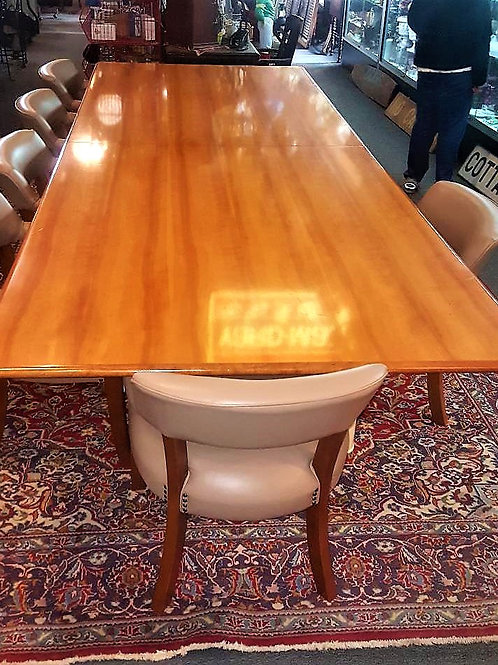 12 Foot solid wood Conference table with great finish