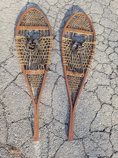 Antique Snow Shoes - Vintage Wooden Snowshoes - Winter Decor - Cabin Decor