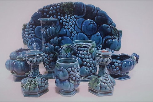 1960's Inarco Blue Mood Indigo Fruit Topiary