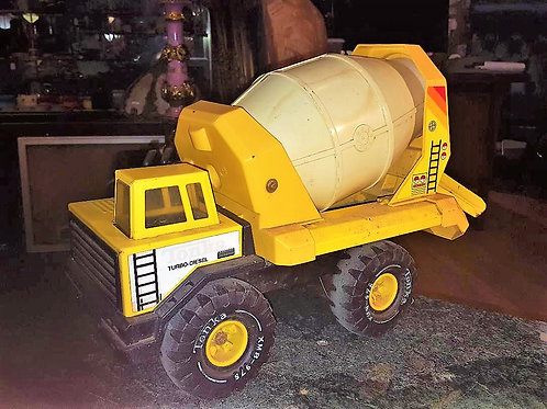 Vintage TONKA Turbo Mighty Diesel Cement Mixer Truck XMB 975 1980's Rare Toys