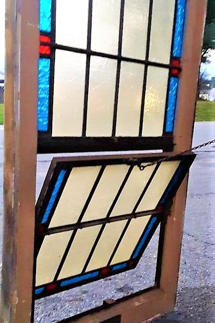Antique Stained Glass Windows # L1 This one has the tilt out
