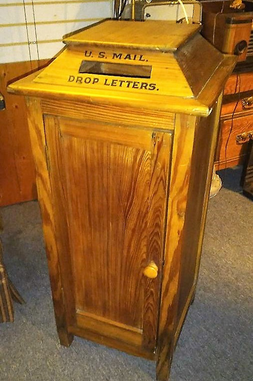 Antique Stand Up wooden Mailbox with mail slot