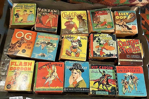 Vintage Big Little Cartoon Books 15 books all different prices.