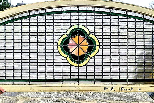 Leaded stained glass window.