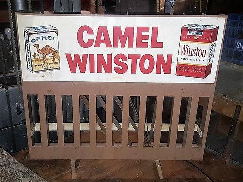 Vintage cigarette advertising organizer for counter