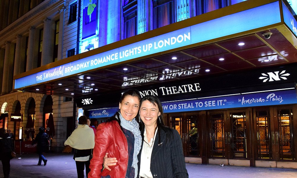 "Dominion Theatre - ""An American in Paris"", with my lovely friend and dancer Rossi Traykova"